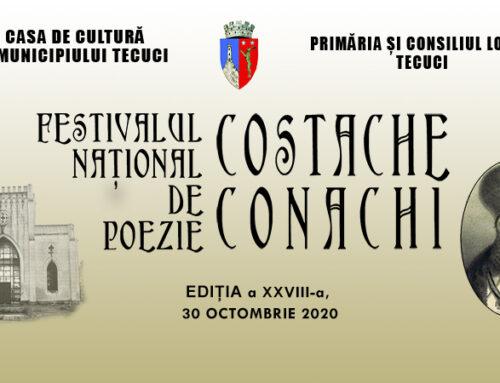 """REGULAMENTUL FESTIVALULUI NAȚIONAL DE POEZIE """"COSTACHE CONACHI"""" 2020"""